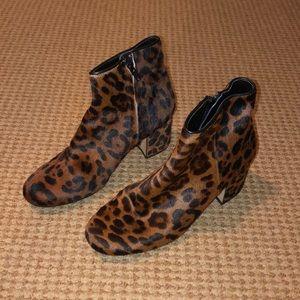 Zara Leopard Boots